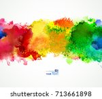 bright watercolor stains | Shutterstock .eps vector #713661898
