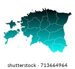 map of estonia | Shutterstock .eps vector #713664964
