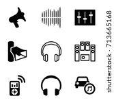 stereo icons set. set of 9... | Shutterstock .eps vector #713665168