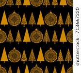 christmas seamless pattern. new ...   Shutterstock . vector #713667220