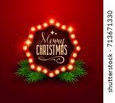 christmas background. retro... | Shutterstock .eps vector #713671330