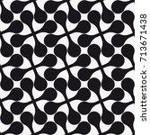 vector seamless pattern. modern ... | Shutterstock .eps vector #713671438