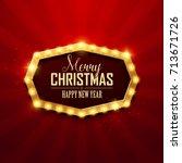 christmas background. retro... | Shutterstock .eps vector #713671726