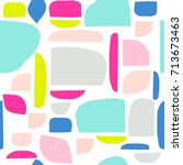 memphis cut paper design... | Shutterstock .eps vector #713673463