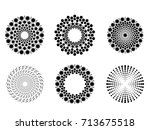 halftone dots in circle form .... | Shutterstock .eps vector #713675518