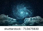 backgrounds night sky with... | Shutterstock . vector #713675830