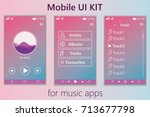 mobile music app. mobile ui kit....
