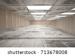 abstract  concrete and wood... | Shutterstock . vector #713678008