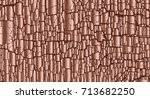 rose gold color abstract bark... | Shutterstock .eps vector #713682250