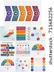 set 10 universal templates... | Shutterstock .eps vector #713682256
