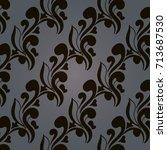 vector pattern abstract... | Shutterstock .eps vector #713687530