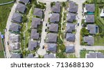top view of house village from... | Shutterstock . vector #713688130