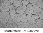 dried cracked earth soil ground ... | Shutterstock . vector #713689990