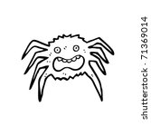 frightened spider cartoon | Shutterstock .eps vector #71369014