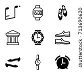 classic icons set. set of 9... | Shutterstock .eps vector #713690620