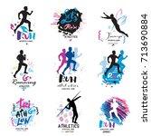 sport logo  logotype sport....   Shutterstock .eps vector #713690884