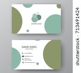 vector business card template.... | Shutterstock .eps vector #713691424