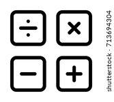calculation icon | Shutterstock .eps vector #713694304