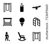 swing icons set. set of 9 swing ...   Shutterstock .eps vector #713695660