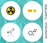 flat icon science set of... | Shutterstock .eps vector #713697850