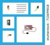 flat icon smartphone set of... | Shutterstock .eps vector #713699818