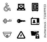safety icons set. set of 9... | Shutterstock .eps vector #713699923