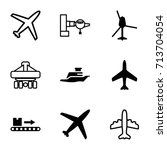 passenger icons set. set of 9... | Shutterstock .eps vector #713704054