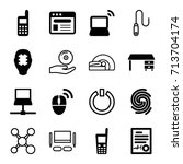 computer icons set. set of 16... | Shutterstock .eps vector #713704174