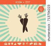 carrots icon | Shutterstock .eps vector #713706223