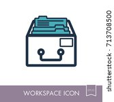 filing cabinet outline icon....