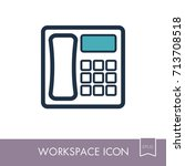 phone outline icon. workspace...