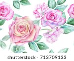 seamless floral pattern with...   Shutterstock . vector #713709133