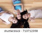 unique perspective of three... | Shutterstock . vector #713712358