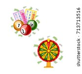 lottery symbols   wheel of... | Shutterstock .eps vector #713713516