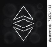 ethereum classic vector icon.... | Shutterstock .eps vector #713714488