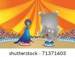 circus arena | Shutterstock .eps vector #71371603