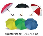 umbrella set | Shutterstock .eps vector #71371612