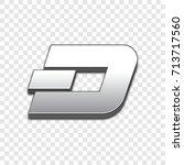 dash coin isolated web vector... | Shutterstock .eps vector #713717560