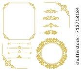 set of vintage elements. frames ... | Shutterstock .eps vector #713718184