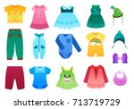vector illustration of baby and ... | Shutterstock .eps vector #713719729