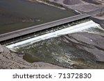 water running under bridge | Shutterstock . vector #71372830