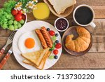 homemade delicious american... | Shutterstock . vector #713730220