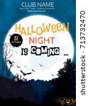 halloween party. halloween...   Shutterstock .eps vector #713732470