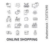 buy online  shopping  internet...   Shutterstock .eps vector #713737690