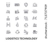 logistics technology  transport ... | Shutterstock .eps vector #713737909