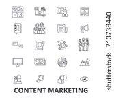 content marketing  social media ... | Shutterstock .eps vector #713738440