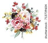 flowers bouquet | Shutterstock . vector #713739604