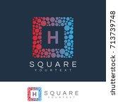 square initial letter h logo... | Shutterstock .eps vector #713739748
