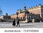 potsdam  germany   february 1 ... | Shutterstock . vector #713745004
