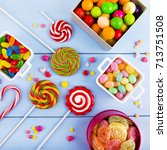 colorful candy | Shutterstock . vector #713751508